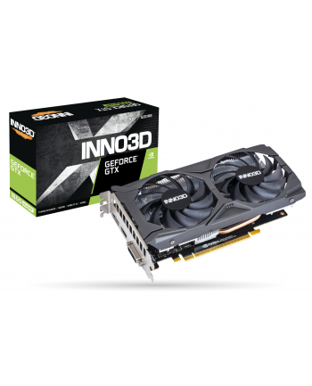 INNO3D N165S2-04D6X-1720VA31 INNO3D GEFORCE GTX 1650 Super Twin X2 OC, 4GB GDDR6, DP, HDMI, DVI