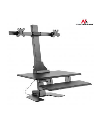 MACLEAN MC-796 Maclean MC-796 Podwójny elektryczny uchwyt do monitorów klawiatury do pracy stoj