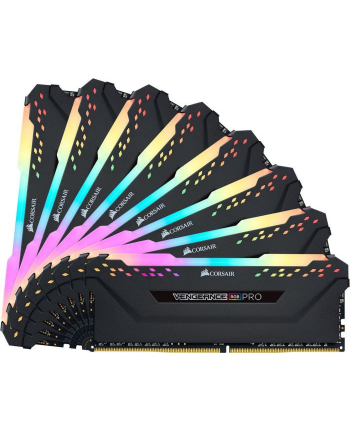 CORSAIR CMW128GX4M8X3600C18 Corsair Vengeance RGB PRO Pamięć DDR4 128GB (8x16GB) 3600MHz CL18 1.35V Czarna