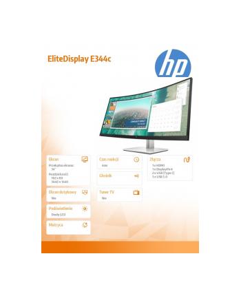 Monitor HP E344c 34inch Curved Display  3440 x 1440 (6GJ95AA)
