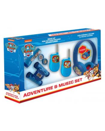 ekids Psi Patrol Zestaw przygoda 5w1: latarka, kompas, lornetka, walkie talkie, słuchawki  PW-V302