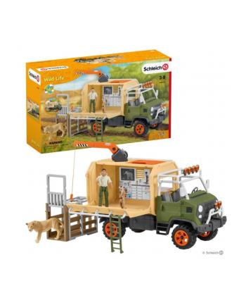 Schleich 42475 Ciężarówka do ratowania zwierząt Wild Life