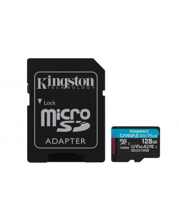 kingston Karta microSD 128GB Canvas Go Plus 170/90MB/s Adapter