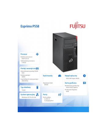 fujitsu Komputer Esprimo Premium Edition P558/Win10P i5-9400/8GB/256GB                       LKN:P0558P0006PL