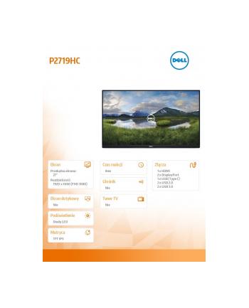 dell Monitor P2719HC_WOST 27 cali  IPS LED Full HD (1920x1080) /16:9/HDMI/DP/USB-C/4xUSB /No Stand/3Y PPG
