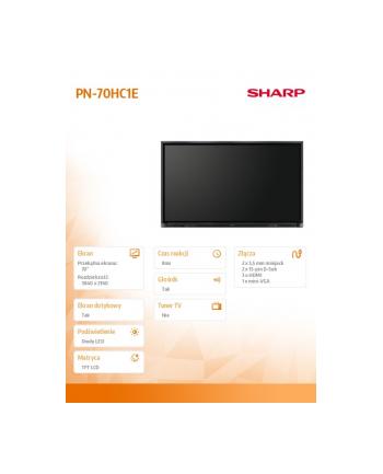 sharp Monitor 70 cali PN70HC1 3840x2160 (4k/ Uhd)