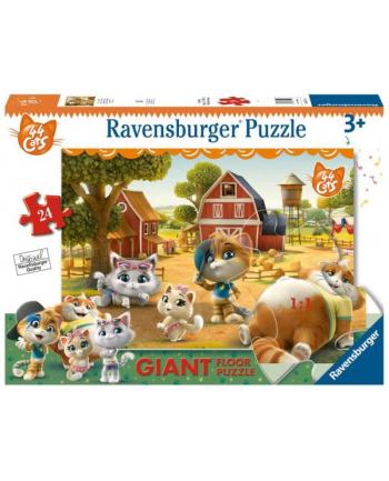 ravensburger Puzzle 24el podłogowe 44 Koty Na farmie 030156