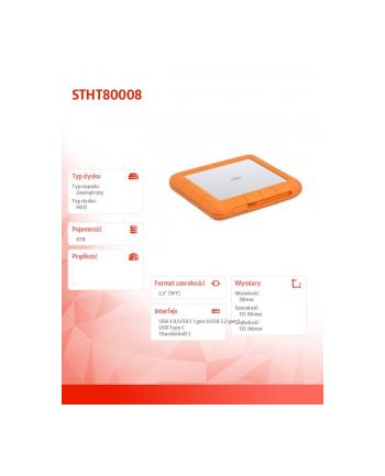 lacie Dysk zewnętrzny HDD Rugged Raid 8TB Shuttle 2,5cala STHT800080