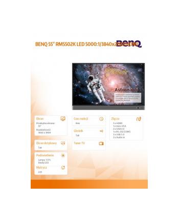 benq 55 RM5502K LED 5000:1/3840x2160/HDMI