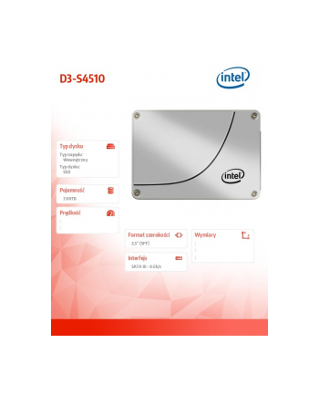 intel Dysk SSD D3-S4510 SATA 2.5 7.68TB SSDSC2KB076T801
