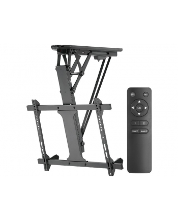 MACLEAN MC-880 Electric ceiling TV mount for sloping walls 32-70inch 35kg max remote control max VESA 600x411