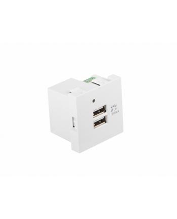 Gniazdo ładowania Lanberg AC-4545-2XUSB21-W (USB 20 x2)