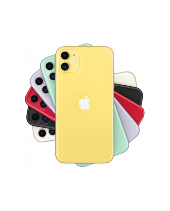 Smartfon Apple iPhone 11 128GB Yellow (6 1 ; IPS  LCD  Liquid Retina HD  Multi-Touch  Technologia True Tone; 1792x828; 4GB; 3110 mAh)