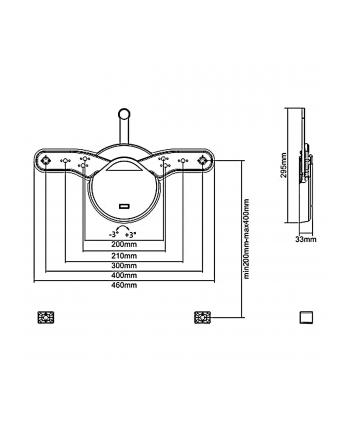 Uchwyt ścienny do telewizora Maclean MC-877 (ścienne; 23  - 55 ; max 40kg)