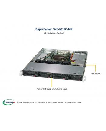 PLATFORMA SERWEROWA SUPERMICRO SYS-5019C-MR