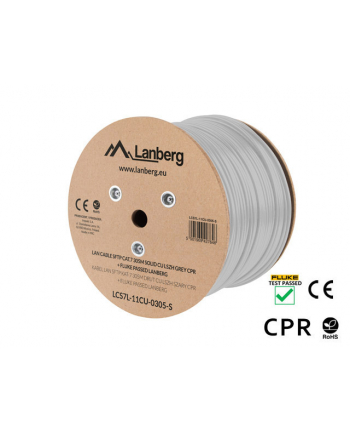 LANBERG KABEL SFTP KAT 7 305M DRUT CU LSZH SZARY CPR+FLUKE PASSED