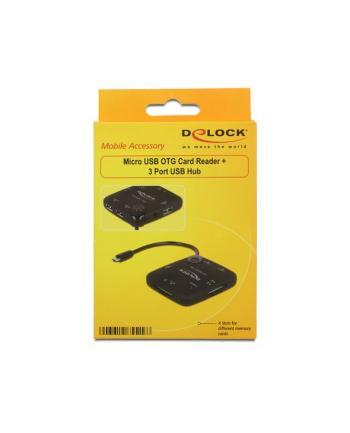 Czytnik kart Delock micro USB 2.0 OTG All in One + Hub