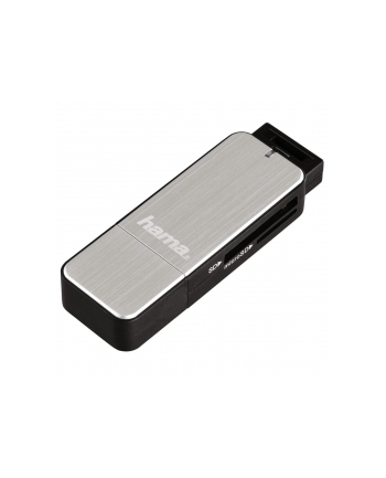 Czytnik kart Hama SD/microSD USB 3.0 srebrny
