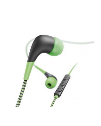 HAMA POLSKA Słuchawki z mikrofonem Hama''Neon'' dokanałowe zielono-czarne