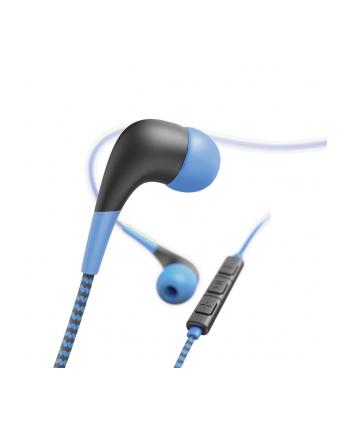 HAMA POLSKA Słuchawki z mikrofonem Hama''Neon'' dokanałowe niebiesko-czarne