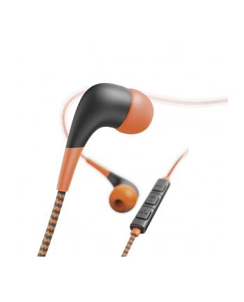 HAMA POLSKA Słuchawki z mikrofonem Hama''Neon'' dokanałowe pomarańczowo-czarne