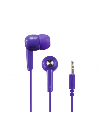 HAMA POLSKA Słuchawki z mikrofonem Hama BASIC4MUSIC dokanałowe fioletowe