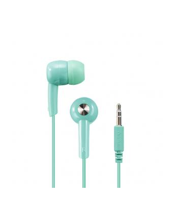 HAMA POLSKA Słuchawki z mikrofonem Hama BASIC4MUSIC dokanałowe miętowe