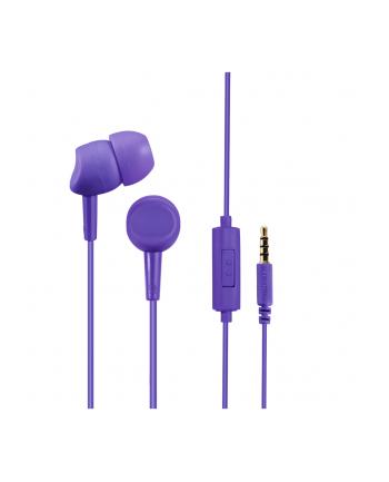 HAMA POLSKA Słuchawki z mikrofonem Hama BASIC4PHONE dokanałowe fioletowe
