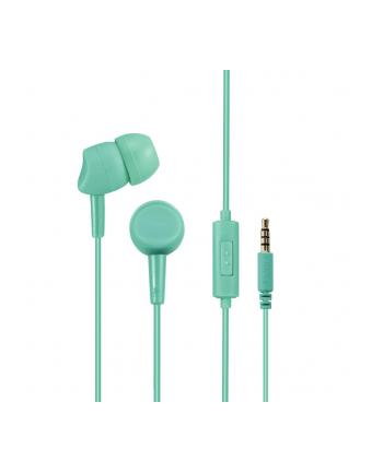 HAMA POLSKA Słuchawki z mikrofonem Hama BASIC4PHONE dokanałowe miętowe