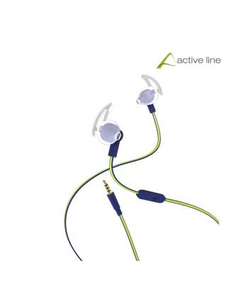 HAMA POLSKA Słuchawki z mikrofonem Hama ''Reflective'' douszne niebiesko-żółte