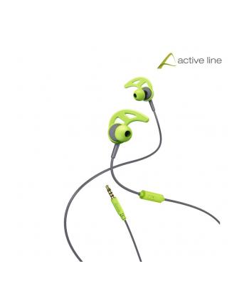 HAMA POLSKA Słuchawki z mikrofonem Hama ''Action'' dokanałowe szaro-zielone