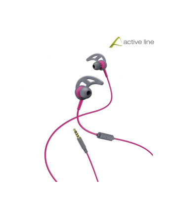 HAMA POLSKA Słuchawki z mikrofonem Hama ''Action'' dokanałowe szaro-różowe