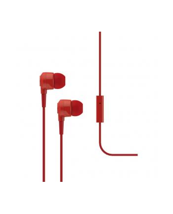 Słuchawki douszne z mikrofonem Ttec J10R, czerwone