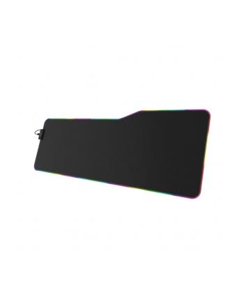 Podkładka pod mysz Hama uRAGE podśw. LED Illuminated XXL dla graczy, czarna