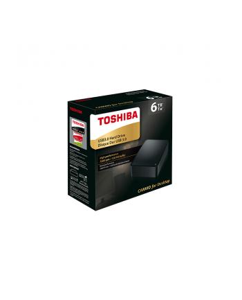 Dysk zewnętrzny Toshiba Canvio for Desktop 6TB, USB 3.0, black
