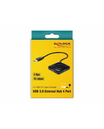 Hub USB Delock 4x USB 3.0 czarny