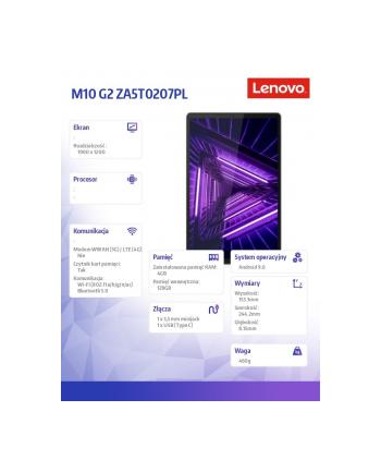 lenovo Tablet M10 G2 ZA5T0207PL Android P22T/4GB/128GB/INT/10.3 FHD/Platinum Grey/2YRS CI