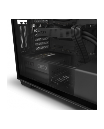 NZXT C650 650W PC power supply(black, 4x PCIe, cable management)