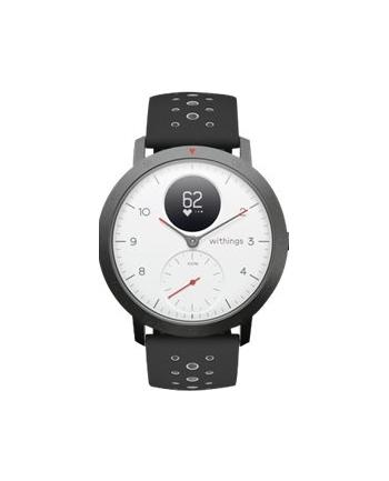 Nokia Steel HR Sport 40mm, SmartWatch(White, Black silicon strap)