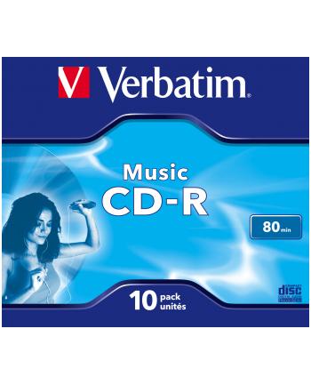 Płytki VERBATIM CD-R AUDIO 80min 10P JC             43365