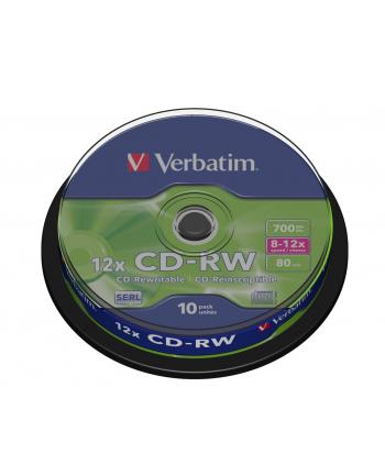 Płytki CD-RW Verbatim 43480 700MB/80min 12x CAKE / 10 sztuk