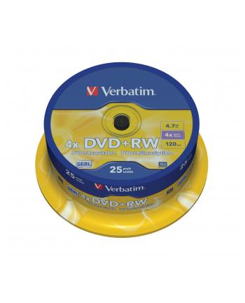 DVD RW 4x 4.7GB 25P CB             43489