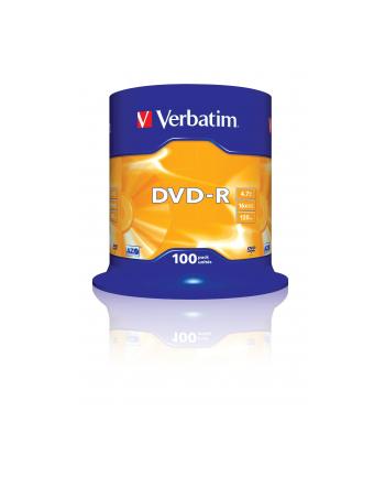 Płytki VERBATIM DVD-R 16x 4.7GB 100 CB 43549