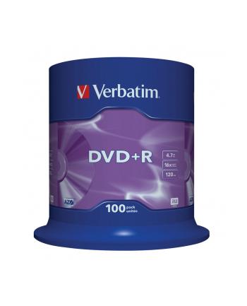 Płytki DVD+R VERBATIM 16x 4.7GB 100P CB            43551