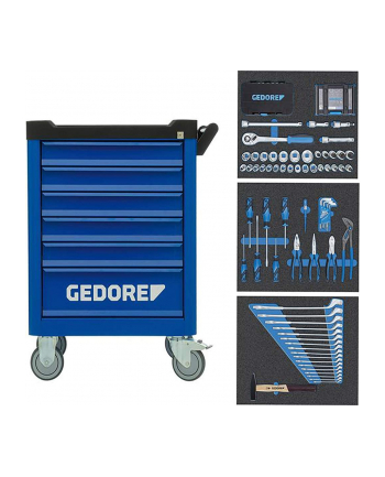 Gedore tool trolley Workster WSL-M-TS-172 (blue / black, incl. 172 tools)