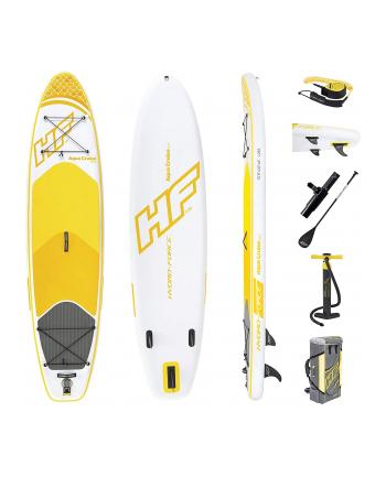 Bestway HYDRO-FORCE SUP Board Set ''Aqua Cruise Tech''(white / yellow, 320cm x 76cm x 15cm, Touring board)