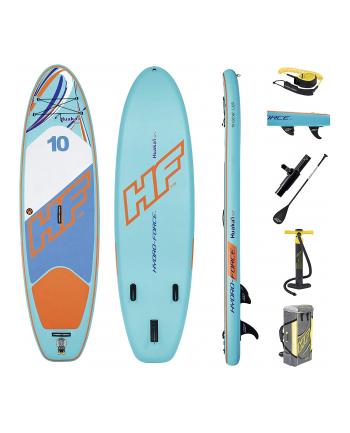 Bestway HYDRO-FORCE SUP Board Set ''HuaKa`i Tech''(white / light blue, 305cm x 84cm x 15cm)