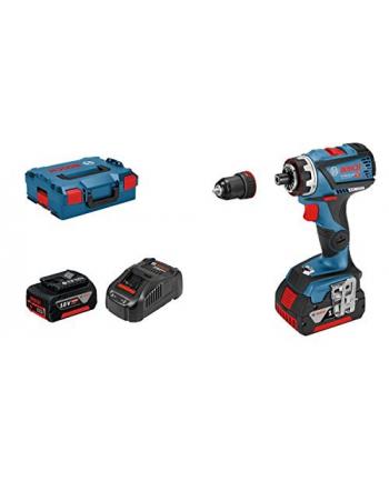 bosch powertools Bosch cordless drill GSR 18V-60 FC + Professional GFA18M(blue / black, L-BOXX, 2x Li-ion battery 5.0 Ah)
