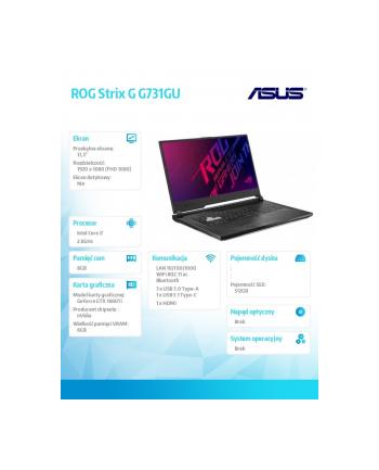 asus Notebook ROG Strix G G731GU-EV005 noOS i7-9750H/8/512/GTX1660Ti/17.3