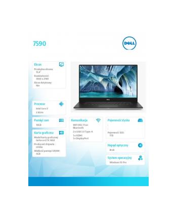 dell Notebook XPS 15 7590  Win10Pro i7-9750H/1TB/16/GTX